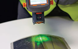 The GapGun Pro can measure welds and seals with high precision, with the special standoff or by non contact measurement.